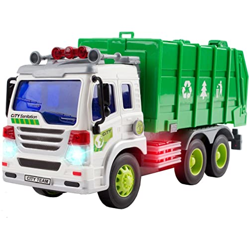 cffd8ac143e8f Garbage Truck Toys for 3 Year Old Boys and Girls - Friction Powered Toy  Cars for