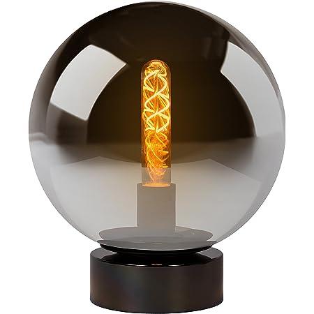 Lucide 45563/25/65 Lampe de Table, Verre, E27, 60 W, Fumé