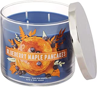 Bath and Body Works 3 Wick Scented Candle Blueberry Maple Pancakes 14.5 Ounce