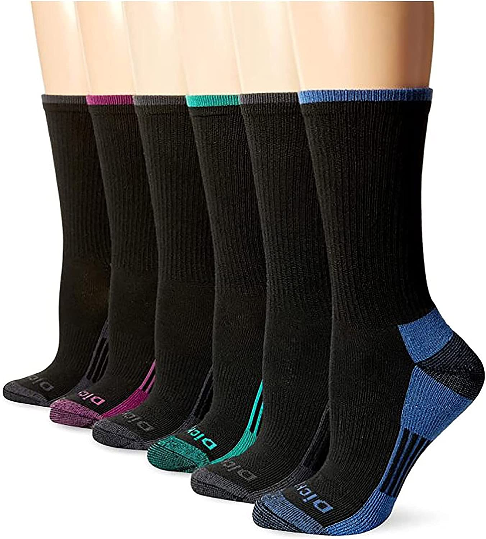 Dickies Women's Dritech Advanced Moisture Wicking Crew Sock (6/12 Pairs)