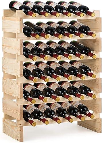 "wholesale Giantex 36 Bottle Modular wholesale Wine Rack, 6 Tier Wine Display Shelves, Stackable outlet online sale Free Standing Wine Bottles Organizer for Bar, Cellar, Cabinet, Pantry, No Bolt Assembly, 25""LX11""WX33.5""H sale"