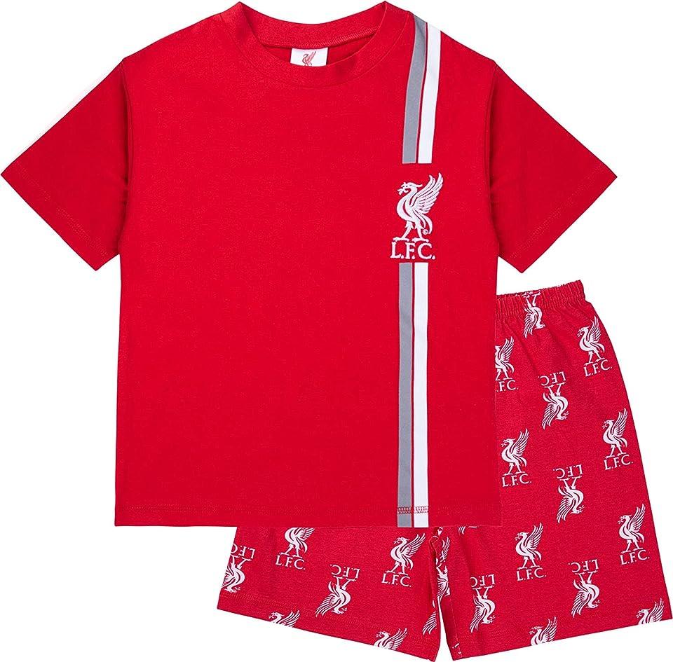 Boys Pyjamas, Cotton LFC Short PJs, Football PJs For Kids And Teenagers