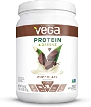 Vega Protein & Greens Chocolate (16 Servings, 18.4 Ounce) - Plant Based Vegan Protein Powder, Keto-Friendly, Gluten Free, Non Dairy, Non Soy, Non GMO  - (Packaging may vary)