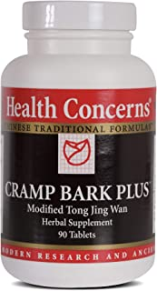 Health Concerns - Cramp Bark Plus - Modified Tong Jing Wan Chinese Herbal Supplement - Menstrual Cramps Relief - with Crampbark Root Bark - 90 Tablets per Bottle