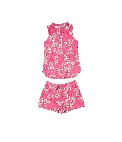 N by Natori Cherry Blossom PJ Short Set (Berry Pink Combo) Women