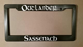 ClustersNN Bhartia Outlander Themed Chrome License Plate Frame Stainless Metal Tag Holder 12