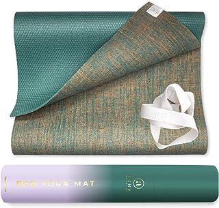 Ajna Eco Organic Yoga Mat - Natural Jute Yoga Mats - Large Non Slip - Reversible Jute PER - Carrying Strap - Extra Long Yo...