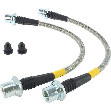 Transparent Hose /& Stainless Banjos Pro Braking PBR9038-CLR-SIL Rear Braided Brake Line