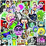 100 Pcs Rick and Morty Stickers Waterproof Vinyl Stickers for Water Bottles Laptop Luggage Cup Mobile Phone Skateboard Decals