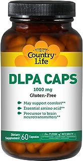 Country Life DLPA CAPS 1000 mg - 60 Capsules - Support Comfort - Amino Acid - Precursor to Brain neurotrans...