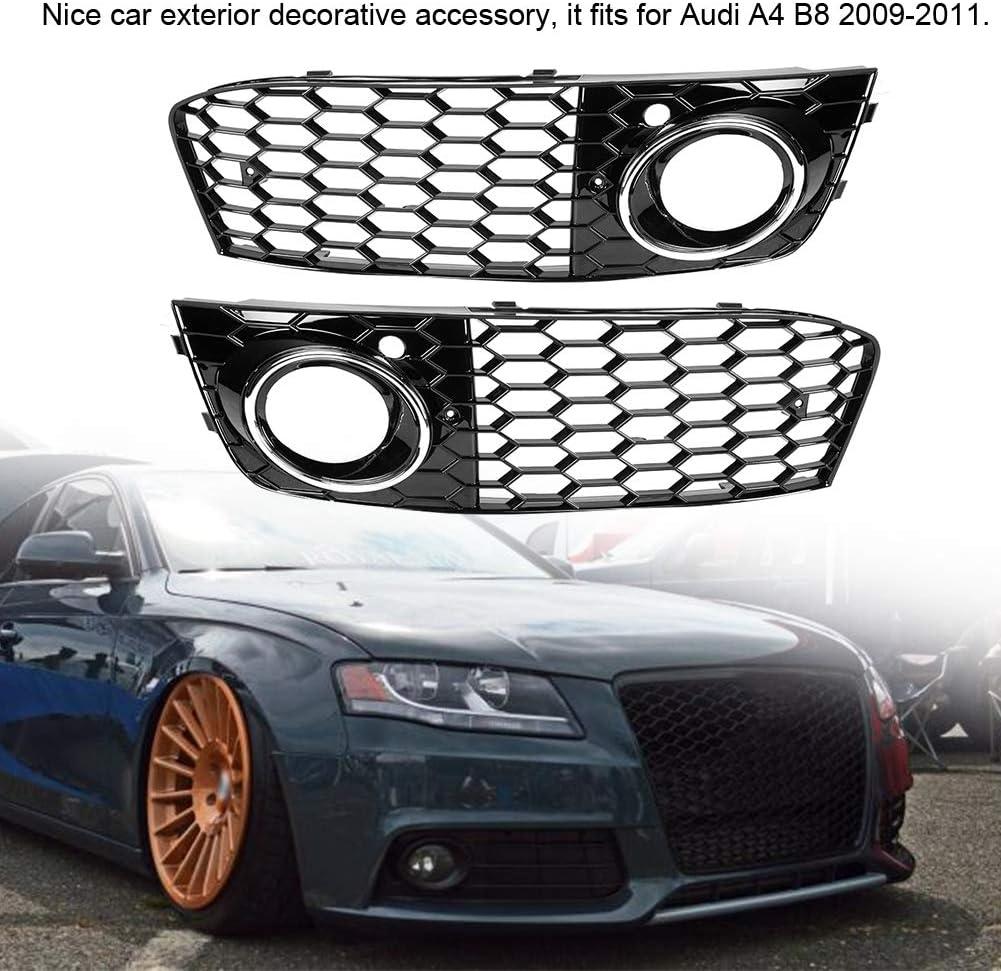 Ladieshow Couvercle dantibrouillard Galvanoplastie (GZ.D072DL // R) Grille de Maille de Cadre de Lampe de Couvercle dantibrouillard adapt/é pour Audi A4 B8 2009-2011