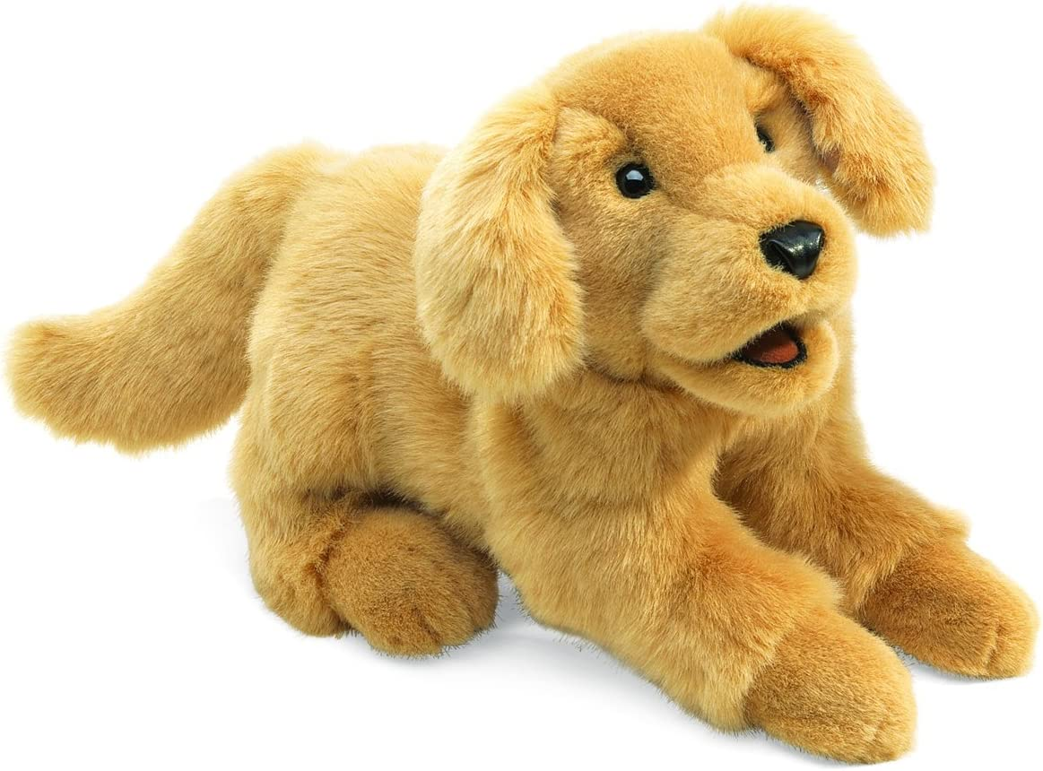 Folkmanis Golden Retriever Puppy Hand EA Clearance Ranking TOP14 SALE Limited time Tan 1 Puppet