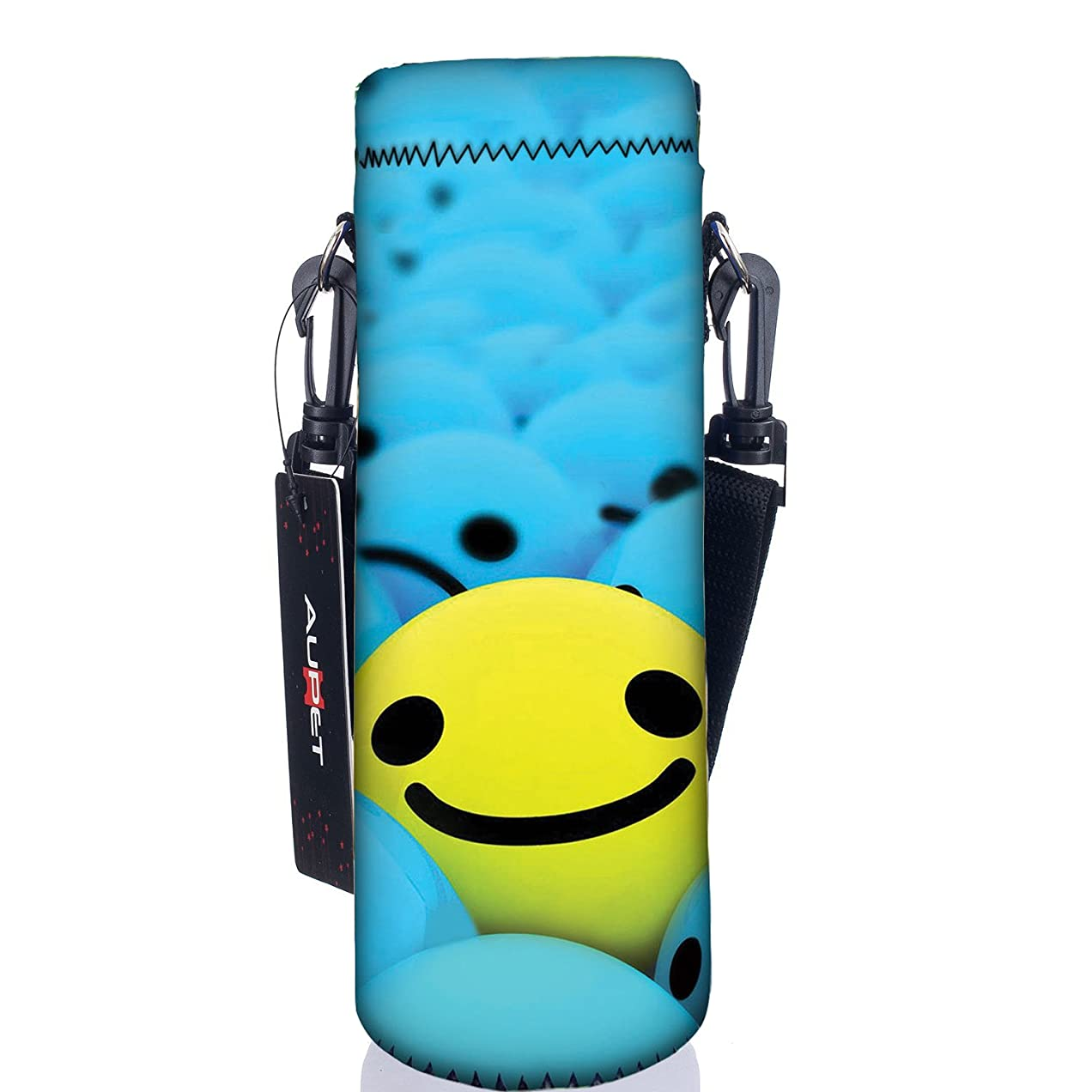 誕生日バブルちなみにAUPET 水筒カバー 携帯式ボトルカバー 水筒ケース 調節可能なショルダーストラップある 3.14インチ(約8cm)以下直径のボトルに合う (750ML, PBC-26)
