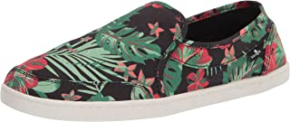 Sanuk womens Pair O Dice Floral Sneaker, Black, 8.5 US