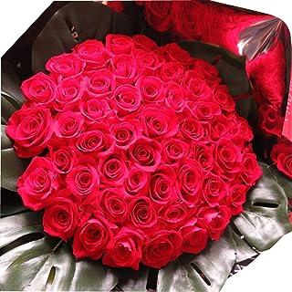 プリザーブドフラワー 赤バラ 50本 花束