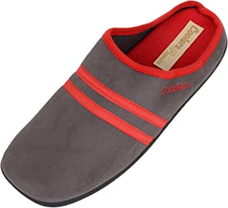 ABSOLUTE FOOTWEAR Mens/Gents Slip On Slippers/Mules/Indoor Shoes with Warm Polar Fleece Inners