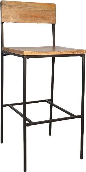 Carolina Chair Table 12030NMNGTBK Durham Bar 30 Inch Stool Natural Black