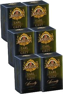 Basilur   Earl Grey Supreme Tea   Ultra- Premium Grade   Single Origin Pure Ceylon Black Tea   High Grown Tea   20 Ct Foil Enveloped   Pack of 6