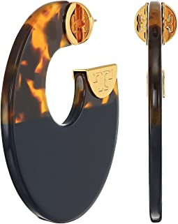 Tory Burch - Resin Color Block Hoop Earrings