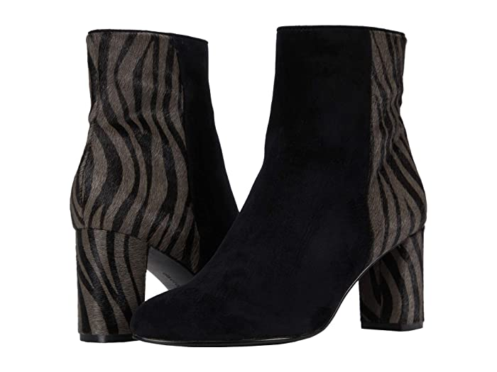 David Tate Alison (Black Suede/Gray Zebra) Women's Boots