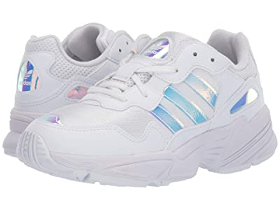 adidas Originals Kids Yung-96 (Big Kid) (White/Metallic) Kid