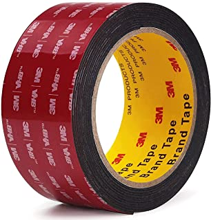 Double Sided Tape 3M VHB Mounting Tape 2 Inch x 18 Feet Length Heavy Duty Waterproof Black Foam Tape No Residue for Home O...
