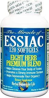 Essiac Tea Softgels, 796 mg, 120 Soft Gels, Eight Herb Essiac, All Natural, Organic Caramel Color, No Brewing or Refrigera...