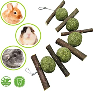 Maibtkey Bunny Chew Toys, Apple Wood Sticks for Bunny, Pet Snacks Toys Suitable for Small Pets Accessories,Guinea Pigs,Chinchillas,Hamsters,Chewing/Playing,Improves Dental Health