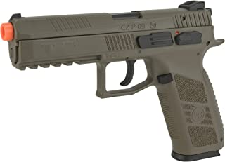 Evike ASG CZ P-09 Licensed Airsoft GBB Gas Blowback Polymer Airsoft Pistol (Color: Dark Earth)
