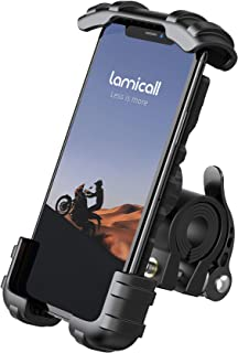 """Phone Holder Mount for Bike Handlebar - Lamicall Motocycle Cell Phone Clamp, Scooter Phone Mount for iPhone 11/ iPhone 11 Pro/ iPhone 11 Pro Max, S9, S10 and More 4.7"""" - 6.8 Smartphones"""