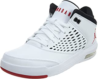 Jordan Men's Flight Origin 4 Basketball Shoes (13, White/Red)