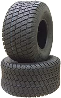 Set of 2 18x10.50-10 4 Ply Turf Lawn Mower Tractor Tires