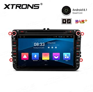 XTRONS Android 8.1 Car Stereo Radio DVD Player 8 Inch Touch Screen Double DIN Head Unit Supports GPS Navigation WiFi Bluetooth 5.0 USB SD Backup Camera DVR Full RCA for VW Passat B6 Golf Tiguan Skoda