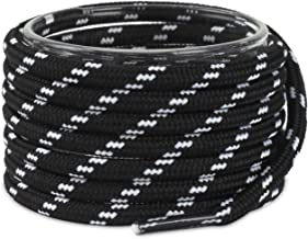 Shoemate Thick Round Heavy Duty Boot Laces for Men & Women's Hiking Shoes with 4 Shoelace Tip Algets