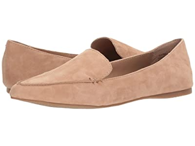 Steve Madden Feather Loafer Flat (Camel Suede) Women