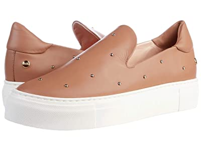 AGL Gold Studded Slip On Sneaker (Cognac) Women