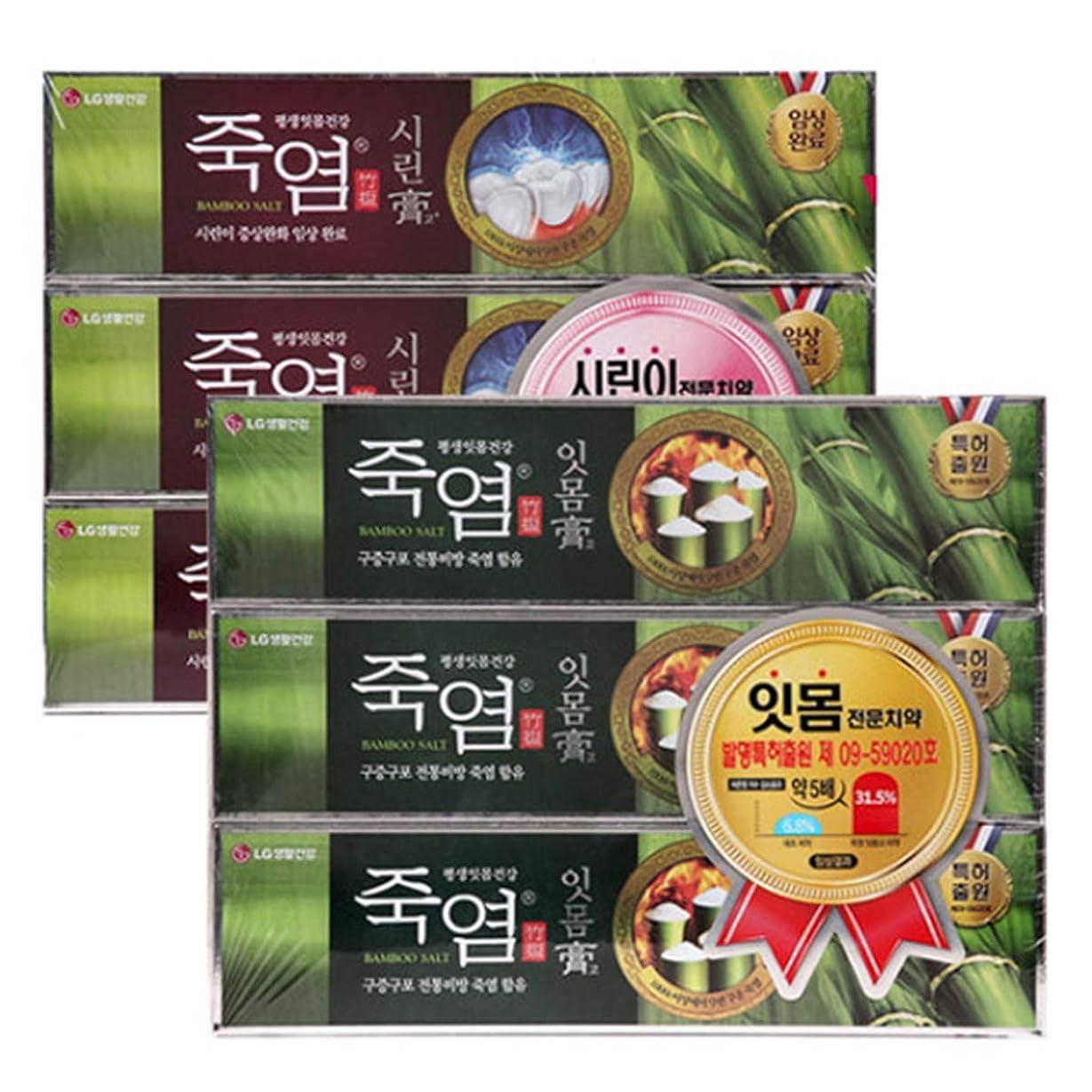 ごちそうチロ些細[LG HnB] Bamboo salt gum. Crying toothpaste/竹塩ガムと。つぶれた歯磨き粉 120gx6個(海外直送品)