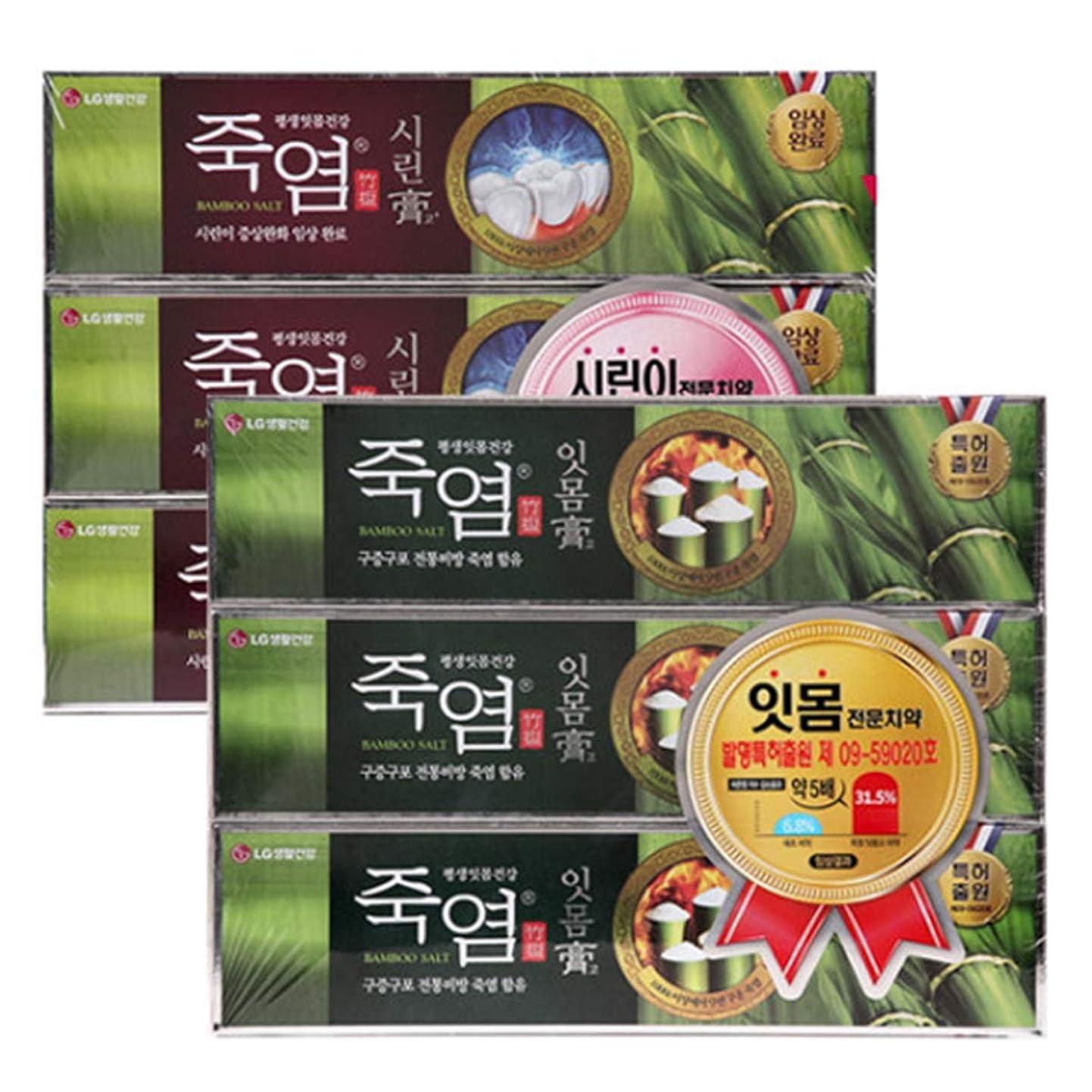 暴力ペレグリネーション学部長[LG HnB] Bamboo salt gum. Crying toothpaste/竹塩ガムと。つぶれた歯磨き粉 120gx6個(海外直送品)