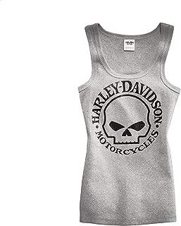 HARLEY-DAVIDSON Women'S Skull Scoop Neck Tank, White