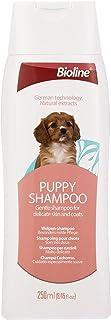 Bioline Puppy Shampoo 250ml, Mild Care Natural Dog Puppy Shampoo, White/Maroon