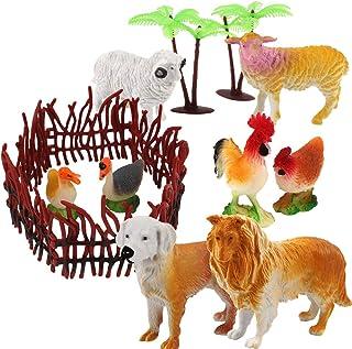 Benyi Farm Animal Figures-Pack of 16 Farm Animal Models Toy Set, Realistic Animals Toys, Educational Learn Cognitive Toys,Farm Animals Toys for Toddlers,Kids