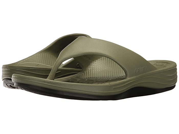 Aetrex  Lynco Flip (Army) Mens Sandals