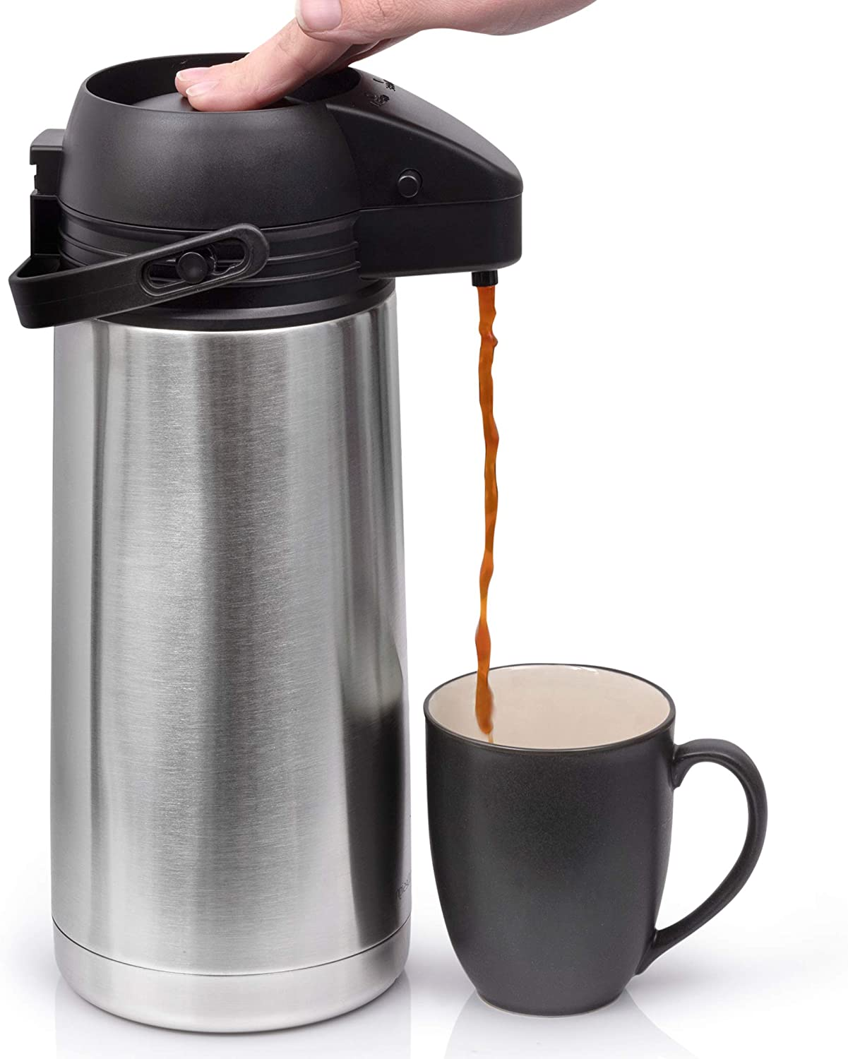 64 Oz 1.9 Liter Airpot Coffee Button Dispenser San Francisco Mall Easy Excellent with Push