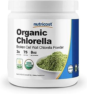 Nutricost Organic Chlorella Powder 8oz - 3000mg Per Serving - Non-GMO, Gluten Free