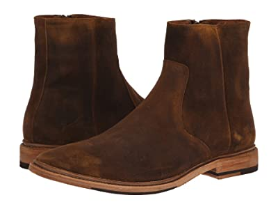 Frye Paul Inside Zip (Tan Washed Waxed Suede) Men