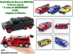 AdiChai Die Cast Model of Real Hummer Car ( 1:32 Scale ) for Ages 4 and Above Made of Tough Metal with Real Engine Sound -- All Doors Openable.