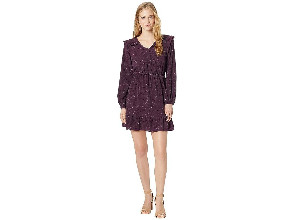 kensie Celestial Stars Dress KSNK8312 (Aubergine Combo) Women