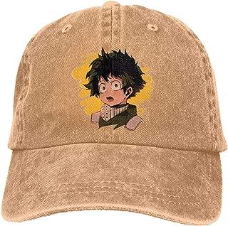 UXUEYING Deku Adjustable Baseball Cap Hip-Hop Unisex Snapback Hat Outdoor Bike Sun Cap