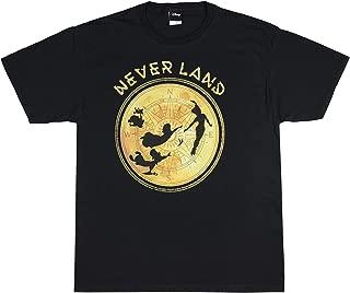 Disney Peter Pan Neverland Northstar Character Silhouette Mens T-Shirt