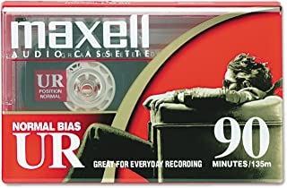 "Maxell Ur-90""Single"" Normal Bias Audio Cassette"